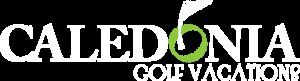 Caledonia Golf Vacations Logo White